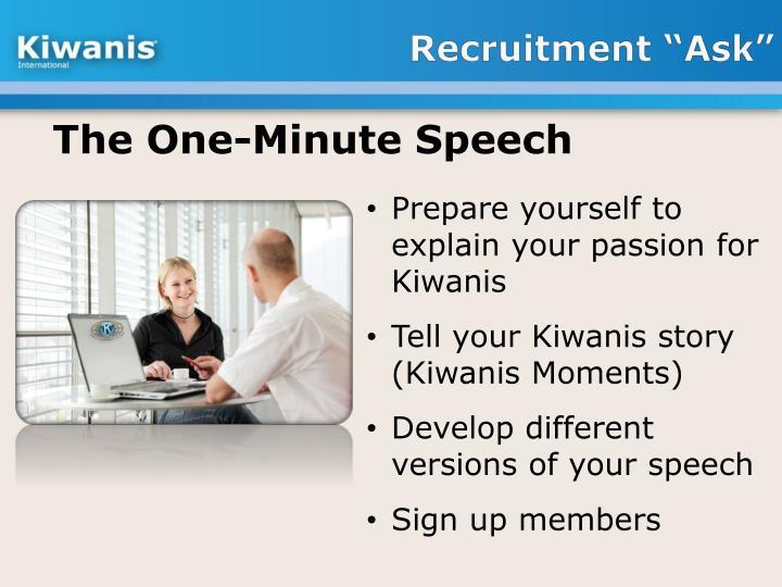 "Recruitment ""Ask"""