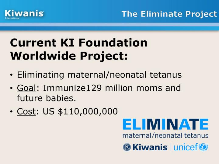 The Eliminate Project