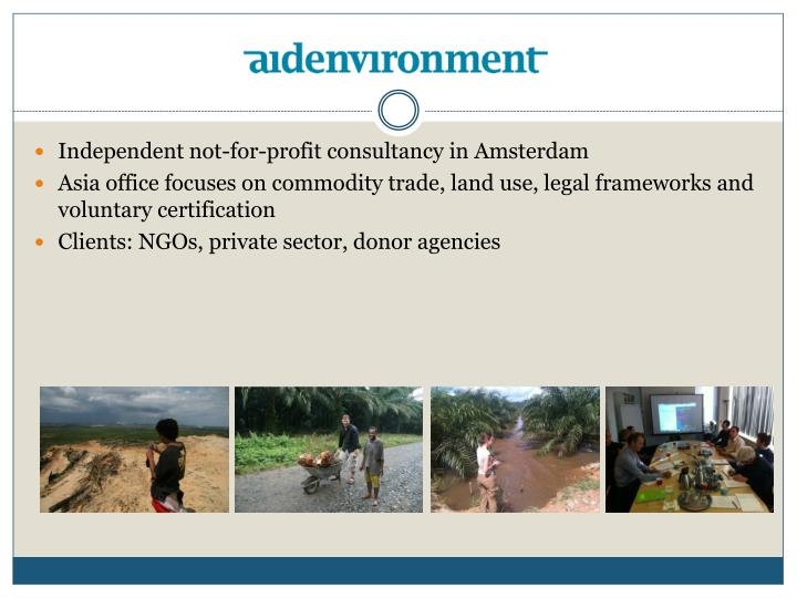 Independent not-for-profit consultancy in Amsterdam