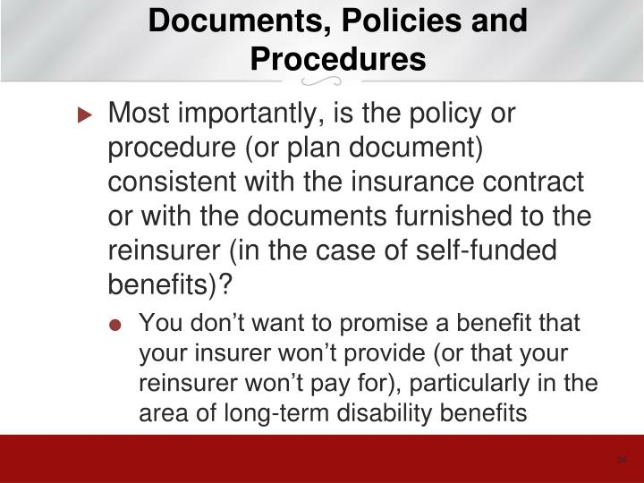 Documents, Policies and Procedures