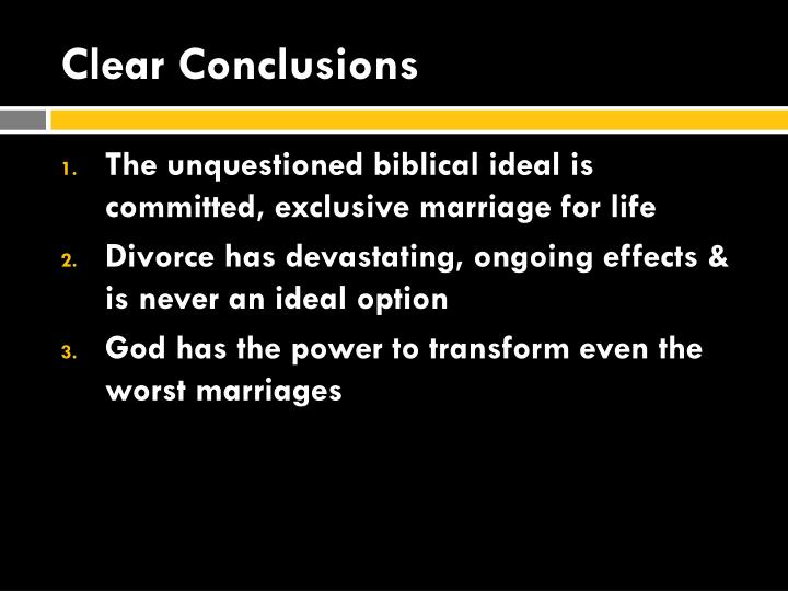 Clear Conclusions