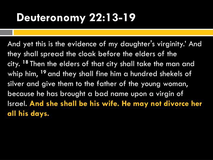Deuteronomy 22:13-19