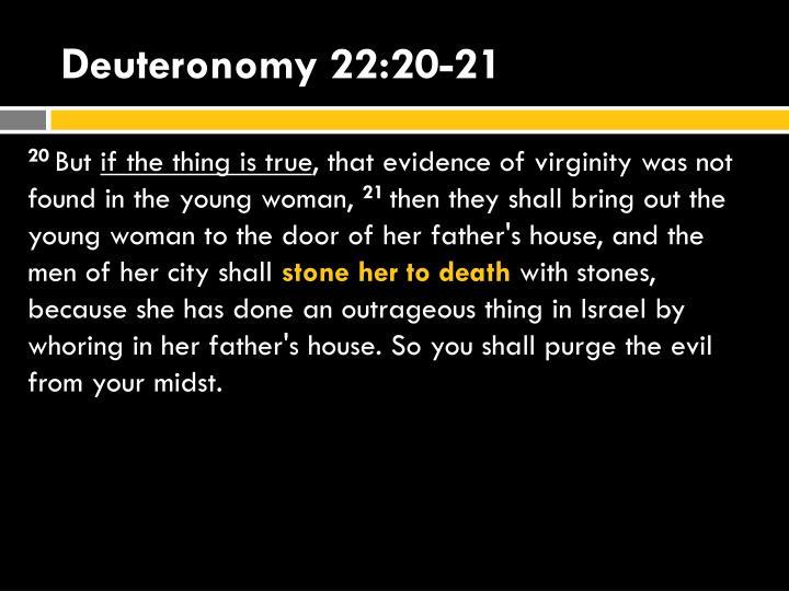 Deuteronomy 22:20-21