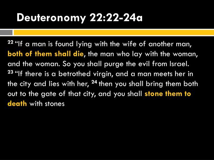 Deuteronomy 22:22-24a