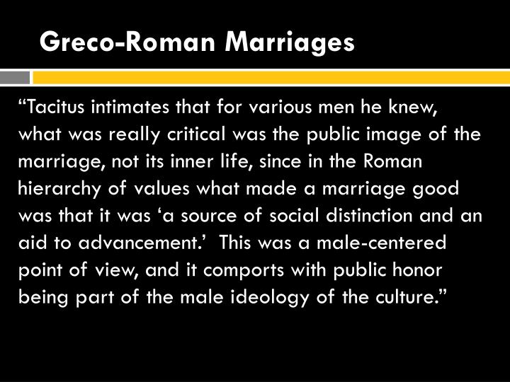 Greco-Roman Marriages