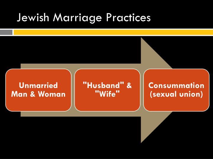 Jewish Marriage Practices