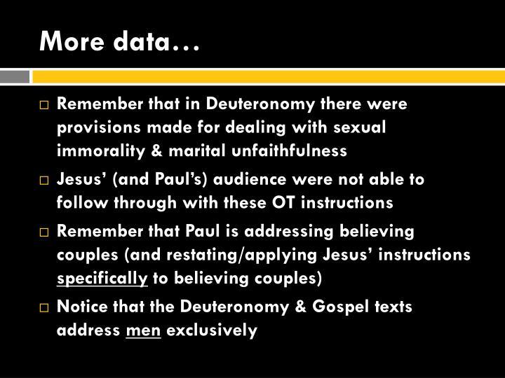 More data…