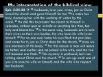 my interpretation of the biblical view of divorce remarriage8