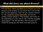 what did jesus say about divorce2