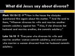 what did jesus say about divorce3