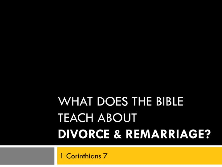 What does the bible teach about