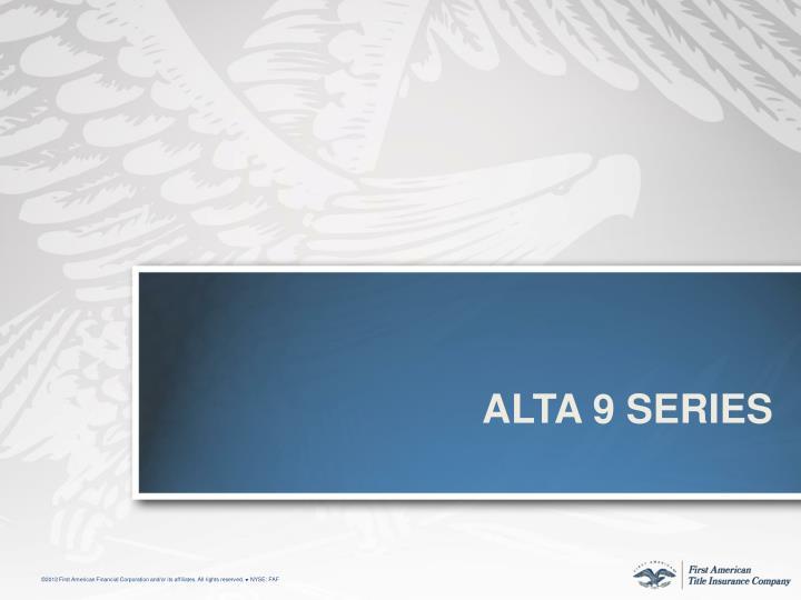 ALTa 9 Series