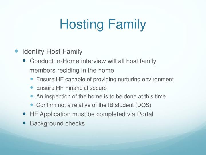 Hosting Family