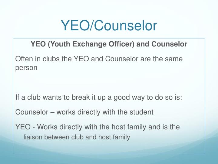 Yeo counselor