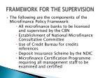 framework for the supervision