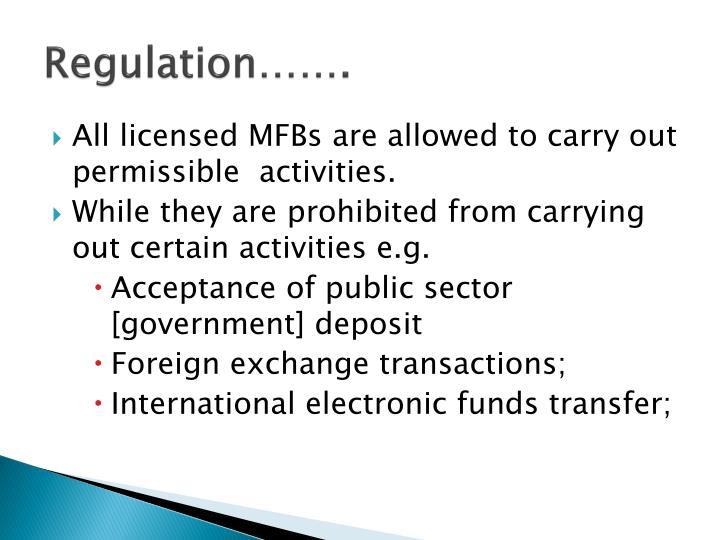 Regulation…….
