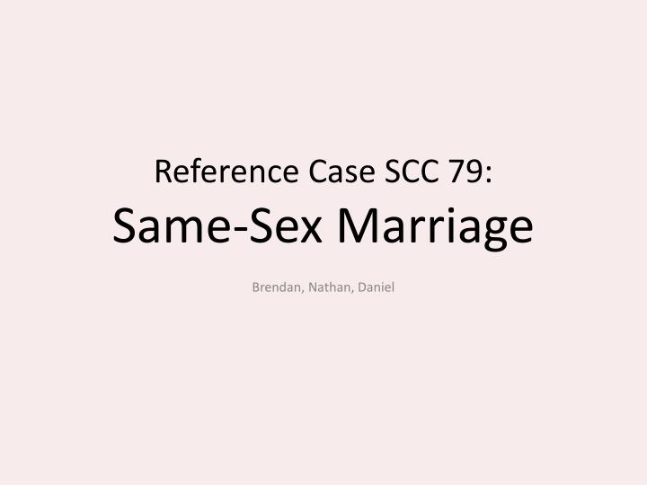 Reference Case SCC 79: