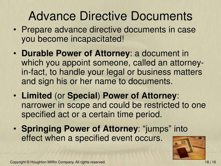 Advance Directive Documents