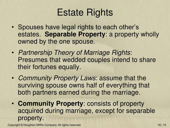 Estate Rights