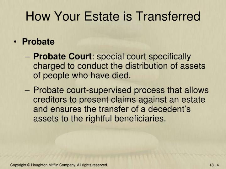 How Your Estate is Transferred