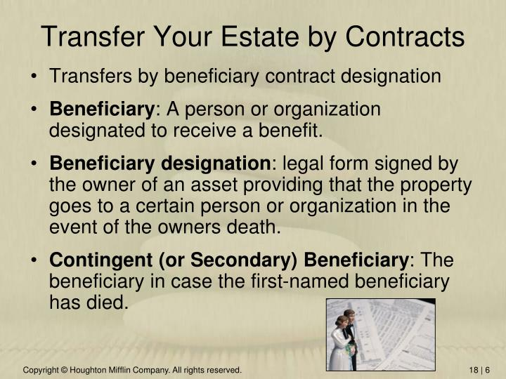Transfer Your Estate by Contracts