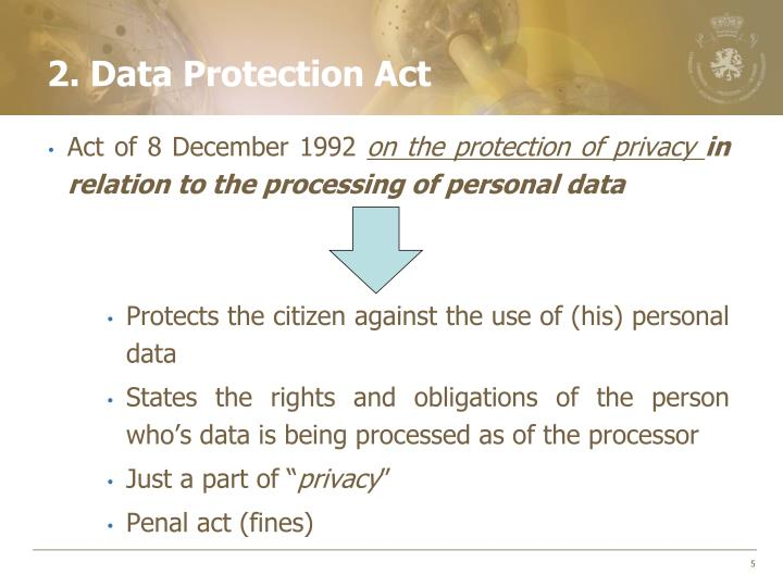 2. Data Protection Act