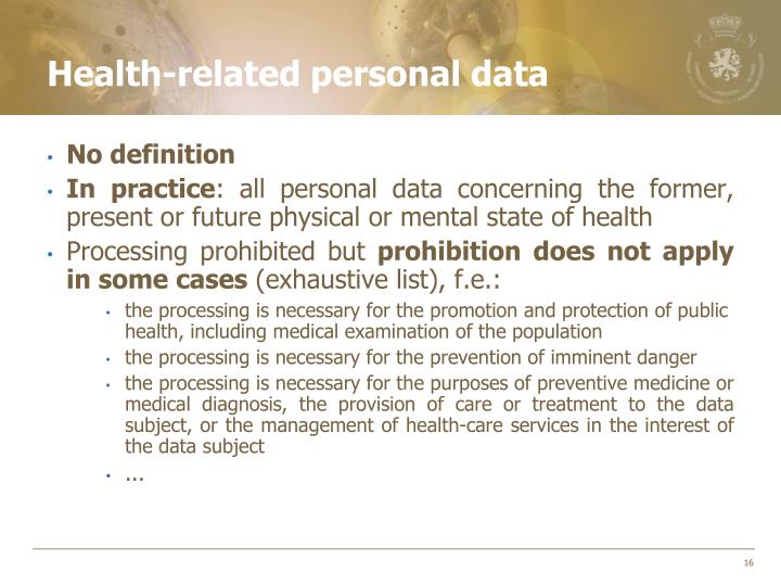Health-related personal data