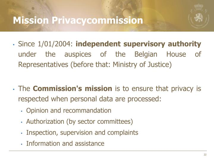 Mission Privacycommission
