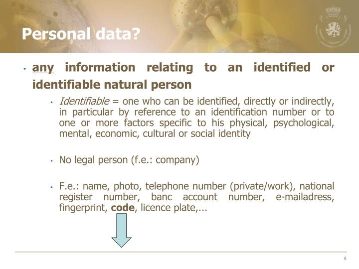 Personal data?