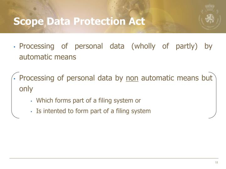 Scope Data Protection Act