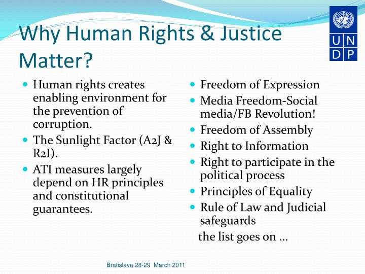 Why human rights justice matter