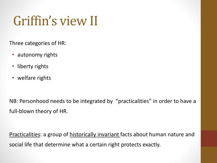 Griffin's view II