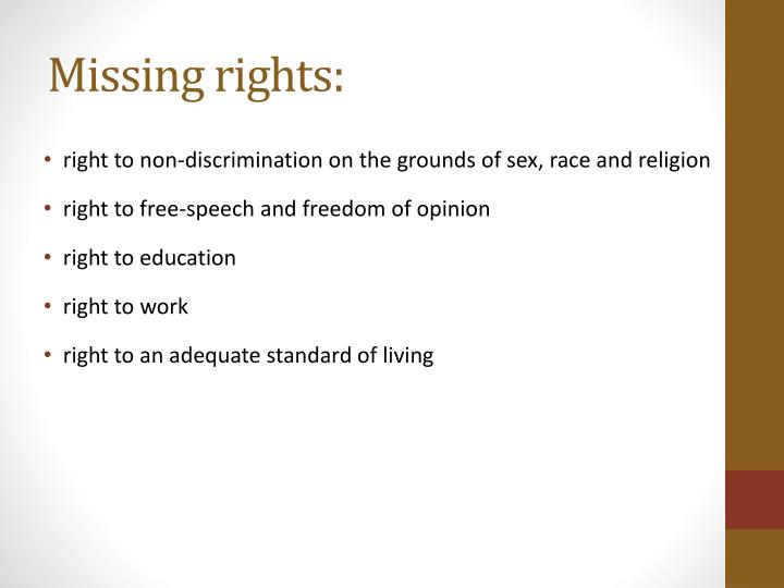 Missing rights: