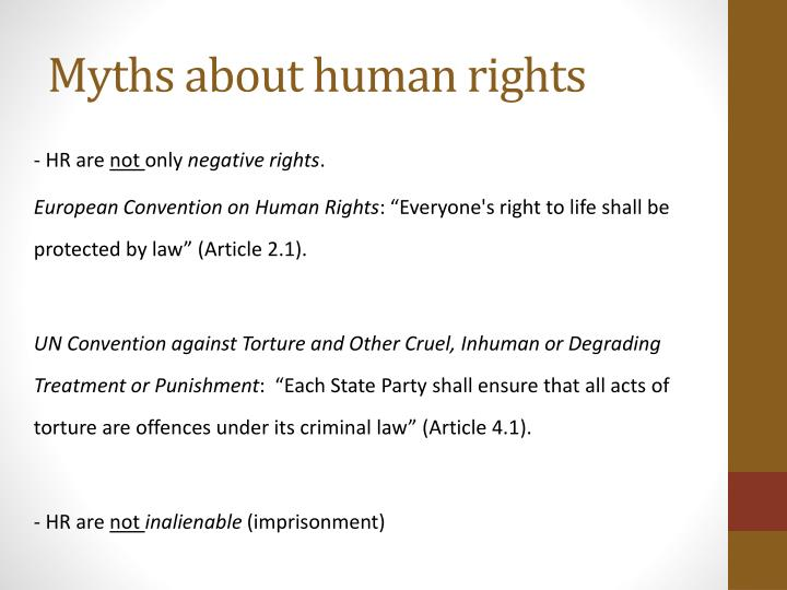 Myths about human rights