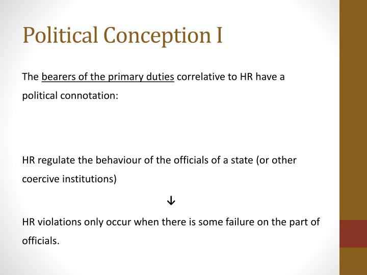 Political Conception I