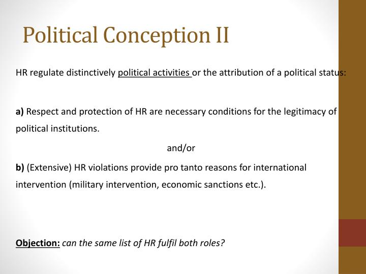 Political Conception II