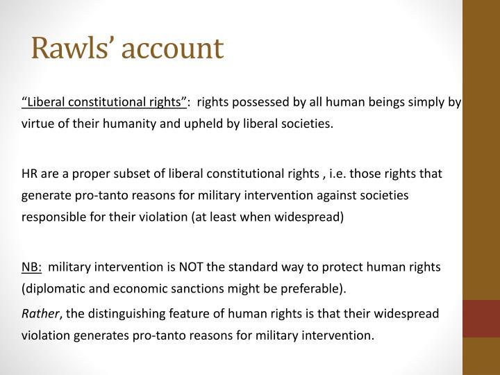 Rawls' account