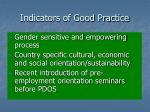 indicators of good practice2