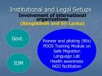 institutional and legal setups6