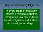 stages in processing migration1