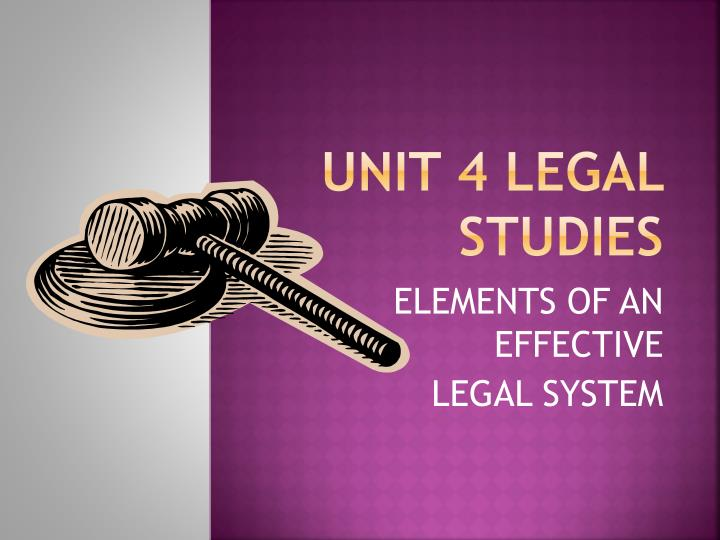 Unit 4 legal studies