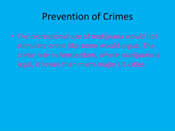 Prevention of Crimes