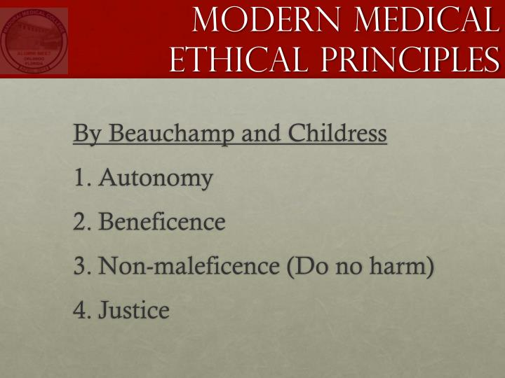 Modern Medical Ethical Principles