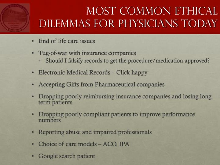 Most Common Ethical