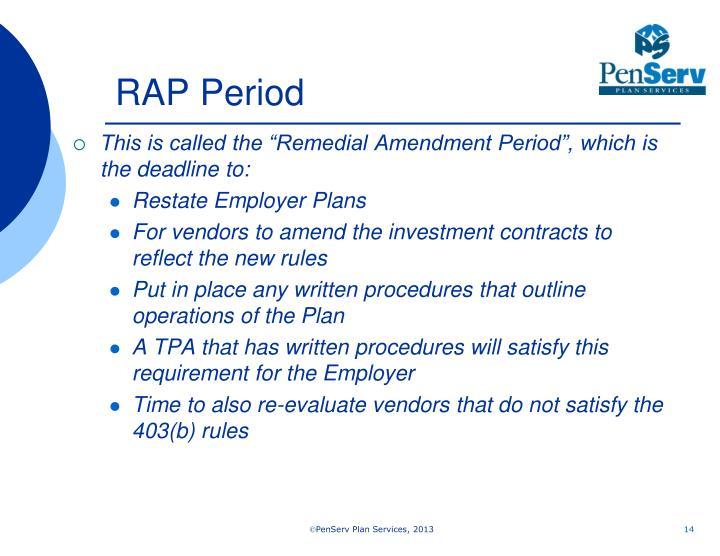 RAP Period