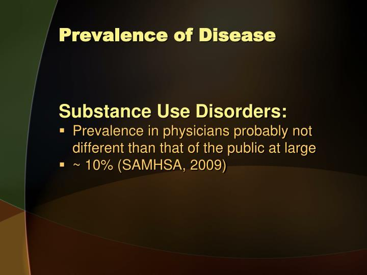 Prevalence of Disease