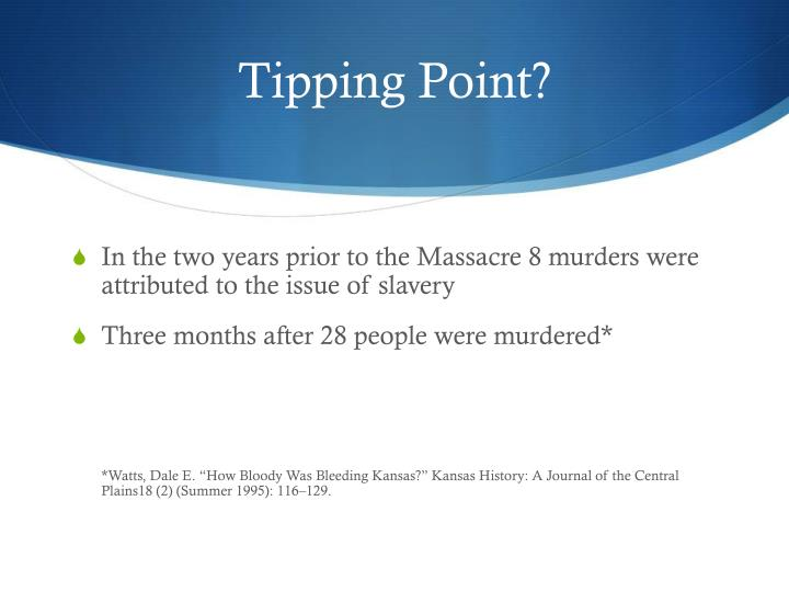 Tipping Point?