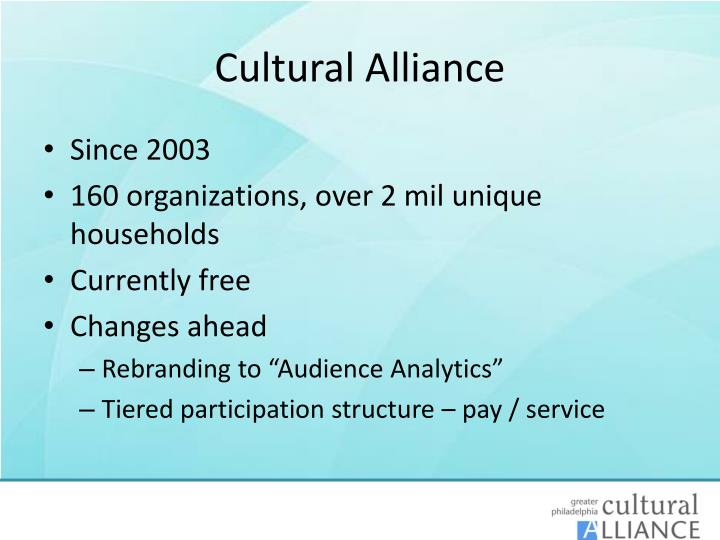 Cultural Alliance