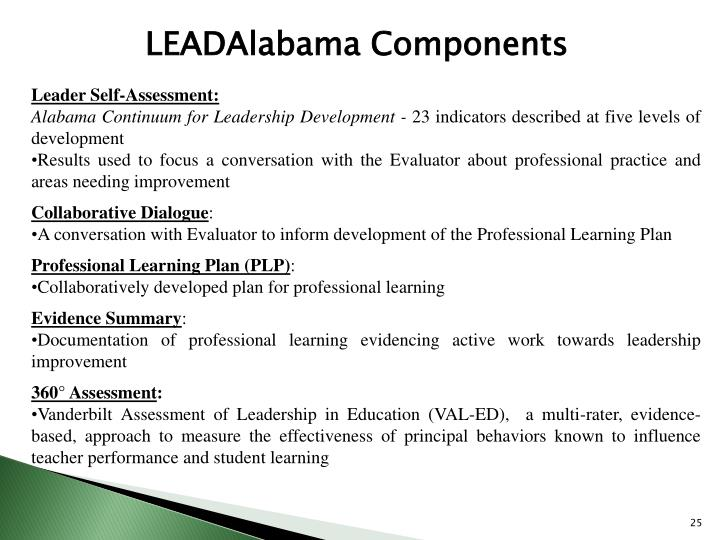 LEADAlabama Components