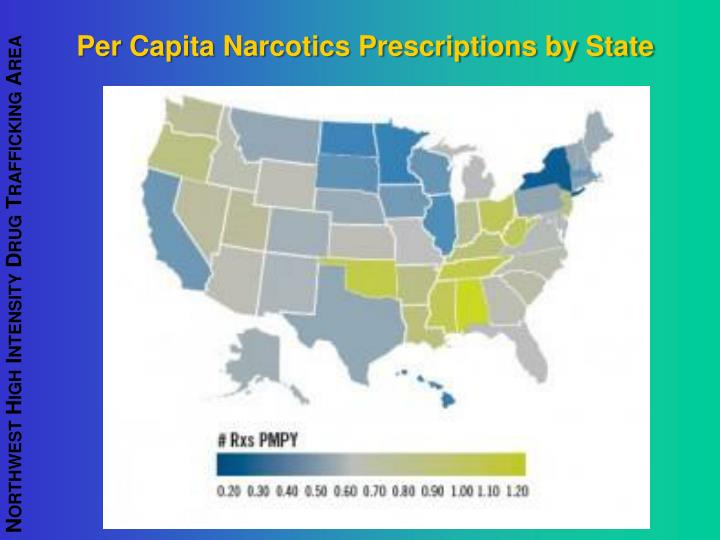 Per Capita Narcotics Prescriptions by State